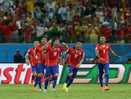 Con esta victoria la selección chilena clasifica a octavos de finales.(elmercurio)