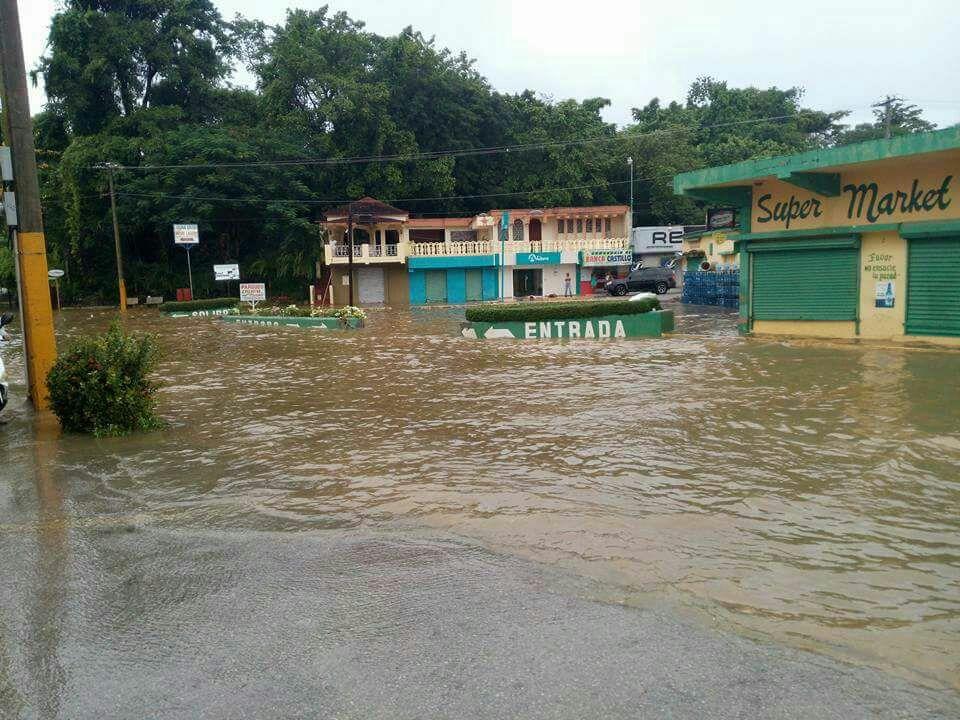 Lluvias inundan varios sectores de Río San Juan