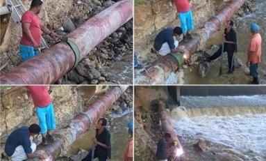 Río San Juan tiene casi un mes sin agua potable; lluvias han impedido reparar rotura de tubería