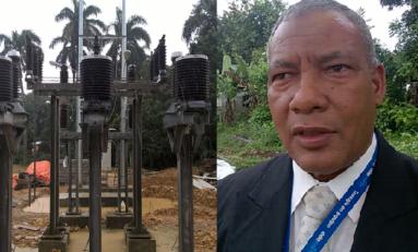 Edenorte dice lluvias han impedido terminación de sub estación eléctrica en Río San Juan