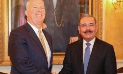 Presidente Medina recibe a comisionado Departamento de Policía de Nueva York