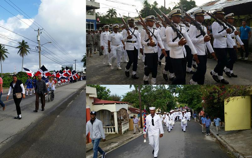 Estudiantes de RSJ conmemoran junto Armada RD el natalicio de Francisco del Rosario Sánchez