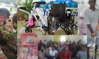 Fundación Mariano Alonso lleva orientación y ayuda dentro actividades patronales de Río San Juan