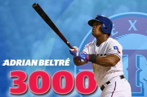Adrian Beltré entró al círculo de jugadores con 3 mil hits