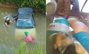 Dos mueren ahogados al caer a una laguna de Las Gordas en Nagua el auto en el que viajaban
