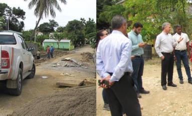 Técnicos Obras Públicas determinan asfaltar casi todo Río San Juan; también repararán carretera RSJ-Payita