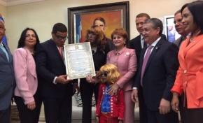 Cámara de Diputados entrega reconocimiento a Fefita La Grande