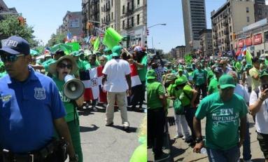 Miles de personas participan en la marcha verde de Nueva York