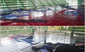 Vientos de Irma destruyeron el tabloncillo del multiusos de Río San Juan