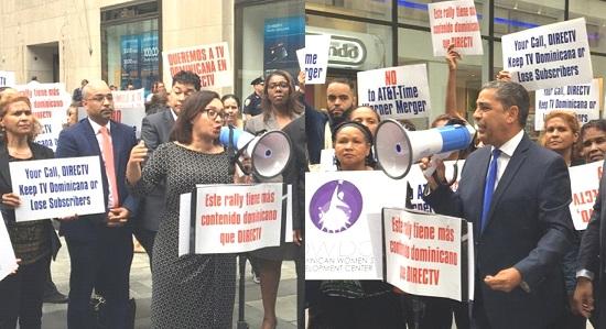 Dominicanos NY protestan ante AT&T y DirecTV