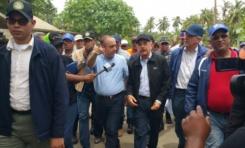 Danilo promete construir viviendas afectados por crecida río Boba en Nagua; deja construcción malecón en manos MOPC
