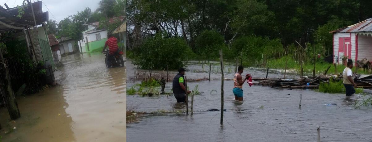 El mar penetra a varios sectores de Río San Juan; desplazados alcanzan los 600 y comienza a llegar ayuda del gobierno