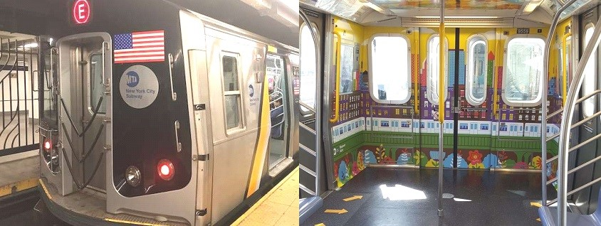Trenes NY sin asientos para mayor cupo pasajeros