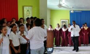 Realizan festival de coros de centros educativos de Río San Juan; escuelas Gregorio Luperón y Antorcha del Futuro irán a festival regional