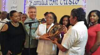 Parroquia San Juan Bautista de RSJ reconoce familia Holguín Ceballos