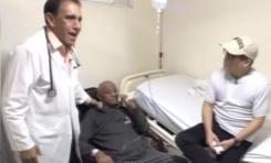 """""""Tate manso, a partir del lunes tu vida va a cambiar en un 90%"""", Danilo Medina en visita a Margaro en clínica Cruz Jiminián"""