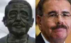 Busto de Duarte develizado en Plaza de la Bandera genera indignación en redes sociales por parecido con presidente Medina