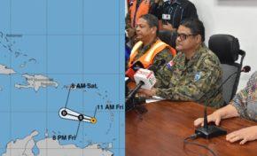 Organismos se activan ante paso de tormenta Kirk este fin de semana por RD; 9 provincias en alerta