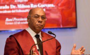 Presidente del Tribunal Constitucional reclama aprobación leyes complementarias