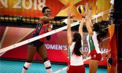 """""""Las Reinas del Caribe"""" derrotan a México en el mundial de voleibol"""