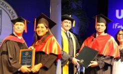 Walkiria Musa y Luis Osvaldo Estrella, dos orgullo de RSJ graduados con los máximos honores en UNIBE