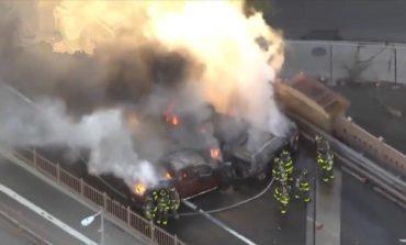 Pánico en Nueva York tras explosivo accidente vehicular que dejó saldo de un muerto y cinco heridos