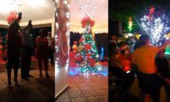Encendido del arbolito en parque municipal anuncia la llegada de la Navidad en Río San Juan