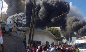 Ascienden a tres los muertos y decenas de heridos por explosión en fábrica de plásticos en Villas Agrícolas, Distrito Nacional