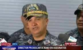 Director PN descarta el robo en asesinatos de 4 personas en Guerra y de esposos en Arenoso; dice lo resolverán en próxima 24 horas